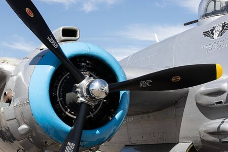 B-25 Mitchell World War 2 bomber on display in Coeur dAlene, Idaho.