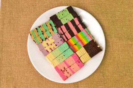 Malaysian traditional food called as Kek Lapis Sarawak or Sarawak Layered Cake. Similar cake in Indonesia also known as Kek Lapis Legit or Legit Layered Cake
