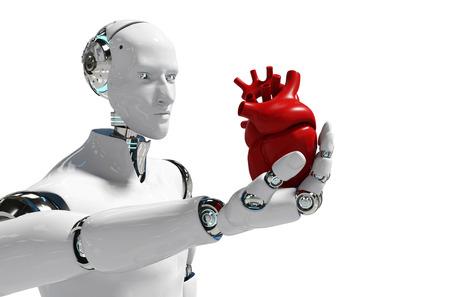 Medical robot concept robot for use Medical white background 3D rendering - Illustration Reklamní fotografie
