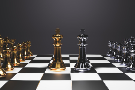 chess board game for ideas and competition and strategy, business success concept - Image 版權商用圖片
