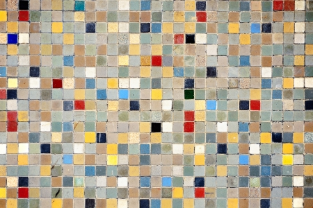 Multi colored small square tiles abstract pattern background photo