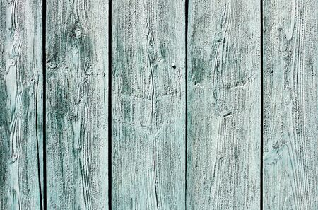 painted wood: Light blue-green painted weathered wooden fence texture