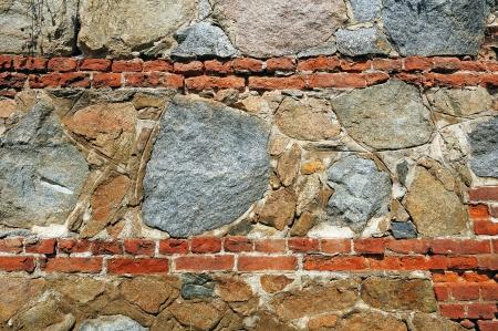 unequal: Fragmento de la pared hecha de piedras desiguales �speras
