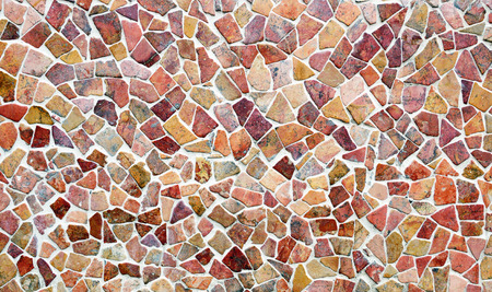 Multi colored small tiles abstract pattern background Stock Photo