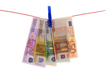 forger: Euro Bills on a Clothes Line
