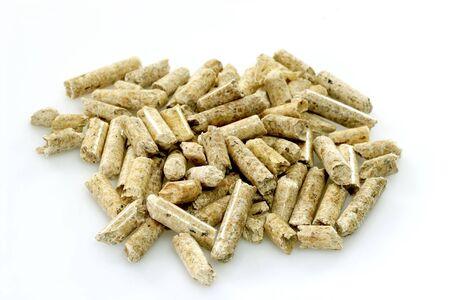 wood pellets: Close up of wood pellets Stock Photo