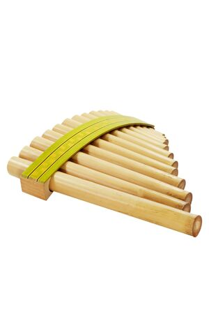panpipe: Pan flute isolated on white background