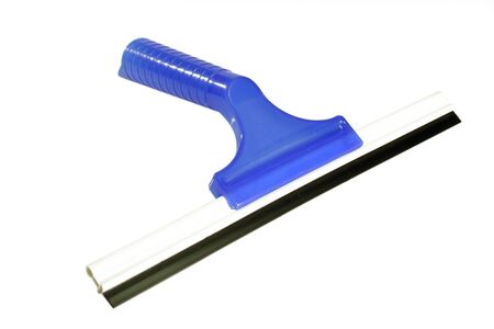squeegee: Blue Squeegee on bright background