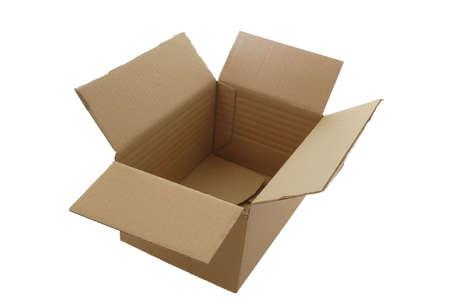 Carton box, isolated on white background Stock Photo - 2336055
