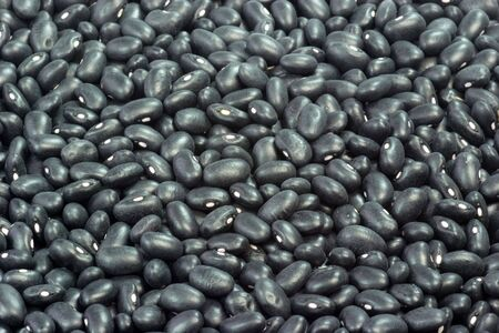 Close up from Black Beans as Background