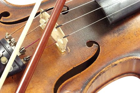 laque: Old violine isolated on white background Stock Photo
