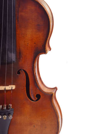 laque: Old violine in Detail isolated on white background