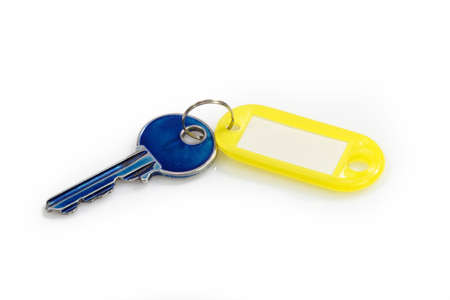 A key fob, isolated on bright. photo