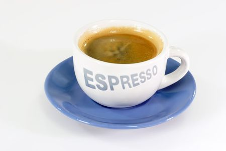 expresso: Expresso coffee  on bright Background.