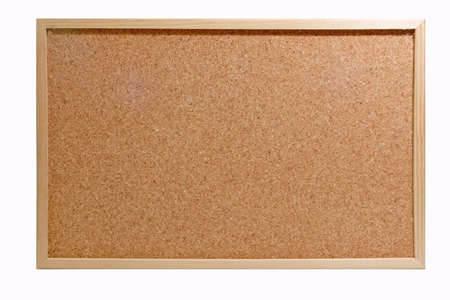 memorize: Emtyto the corkboard  isolated on white Background.
