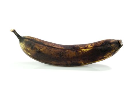 rotting: Brown rotting banana on bright background