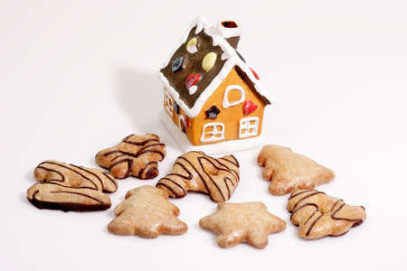 Close up of gingerbread on bright background Stock Photo - 2834465