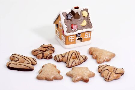 Close up of gingerbread on bright background Stock Photo - 2834463