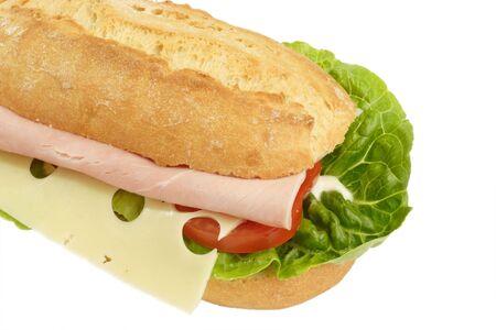 ham sandwich: Panino al prosciutto su sfondo luminoso Archivio Fotografico