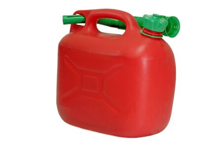 gas can: Red gas can isolated on white background