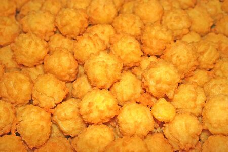 hashbrowns: Detail from fried croquettes as background