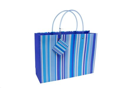 paperbag: Colorful paperbag isolated on white background Stock Photo