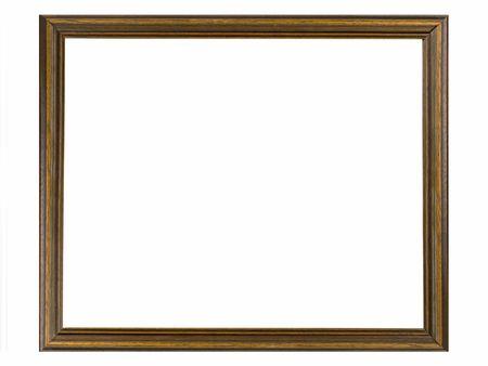 Een houten beeld geïsoleerd op witte achtergrond Stockfoto
