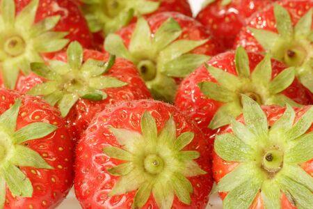 als: Close-up of fresh strawberries als background