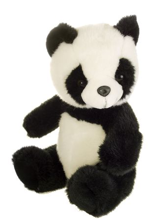 Cute stuffed animal on white background