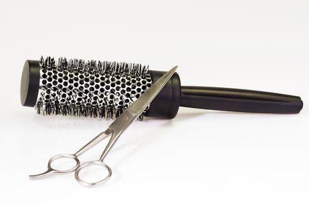 Herramientas de peluquería en brillantes antecedentes  Foto de archivo - 3606042