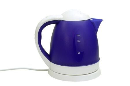 Electric kettle isolated on a white background photo