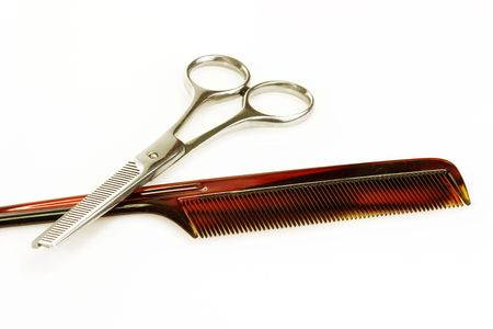 Haircutting tools on bright background Stock Photo - 3905807