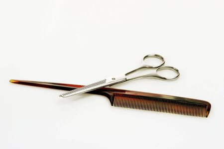 Haircutting tools on bright background Stock Photo - 3925411