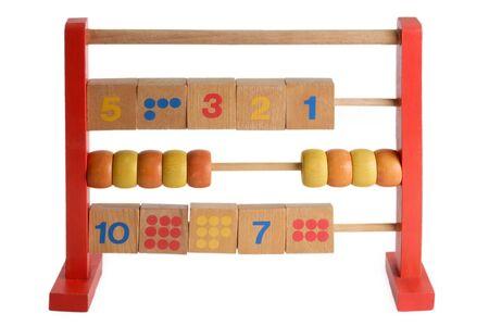 Wooden abacus isdolated on white background Stock Photo - 3996076