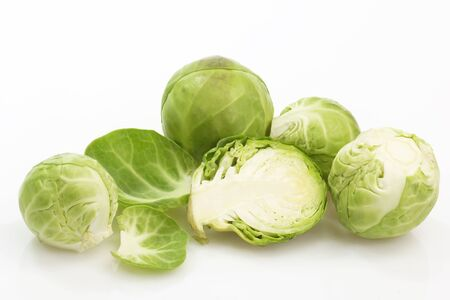 kohl: Brussels Sprouts in Detail on bright background