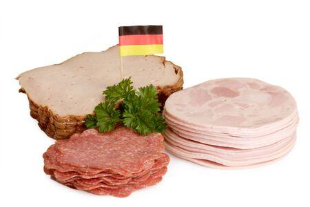 Fresh sliced sausage on bright background Stock Photo - 4066951