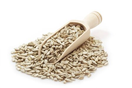 sunflower seed: Sunflower seeds on a bright background Stock Photo