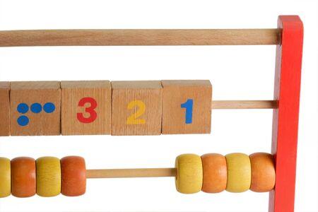 Wooden abacus isdolated on white background Stock Photo - 4246297