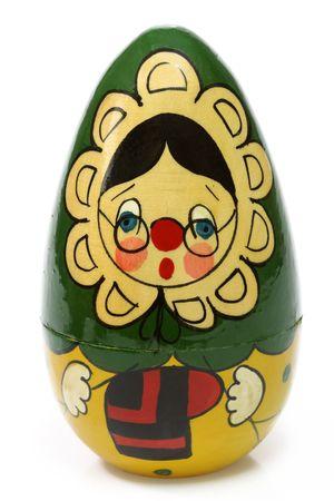 Russischen Matrjoschka-Puppe vor einem weißen Hintergrund Standard-Bild - 4587787