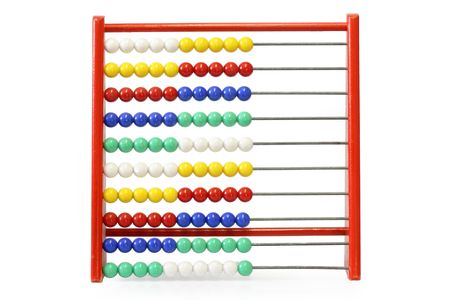 computations: Childrens abacus on bright background
