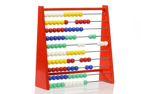 Childrens abacus on bright background photo