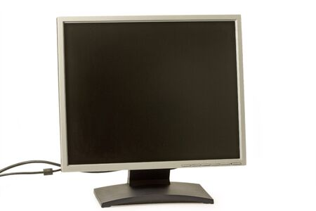 Flat screen computer image on the white background Stock Photo - 4685653