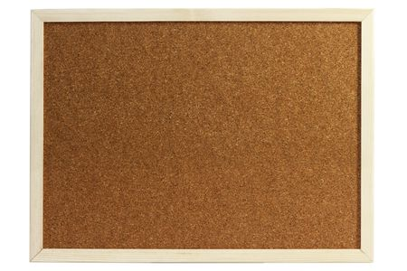 Cork board isolated on white background Imagens