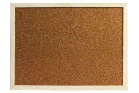 Cork board isolated on white background Standard-Bild