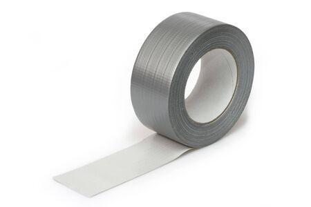 Plata cinta aislante aisladas sobre fondo blanco Foto de archivo - 4732538