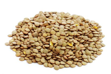 Pile of lentils on bright background Stock Photo - 5207777