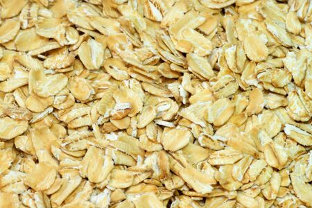 Oatmeal grains close up shot. Useful as background Stock Photo - 5734603