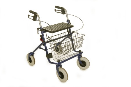 Rollator isolated on white background Banque d'images