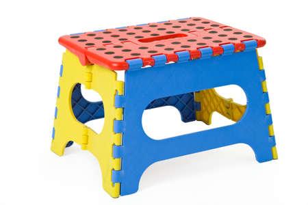 Folding stool isolated on white background Stock Photo - 9757690