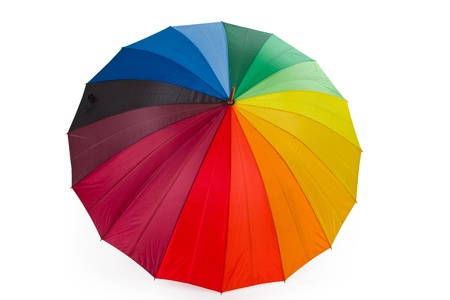 Rain umbrella isolated on white background Banque d'images